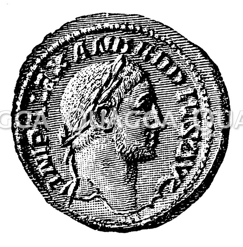 Alexander Severus. Münzporträt nach Imhoof-Blumer