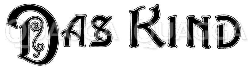 Schriftzug: Das Kind Zeichnung/Illustration