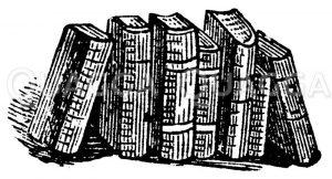 Aufgestellte Bücher Zeichnung/Illustration