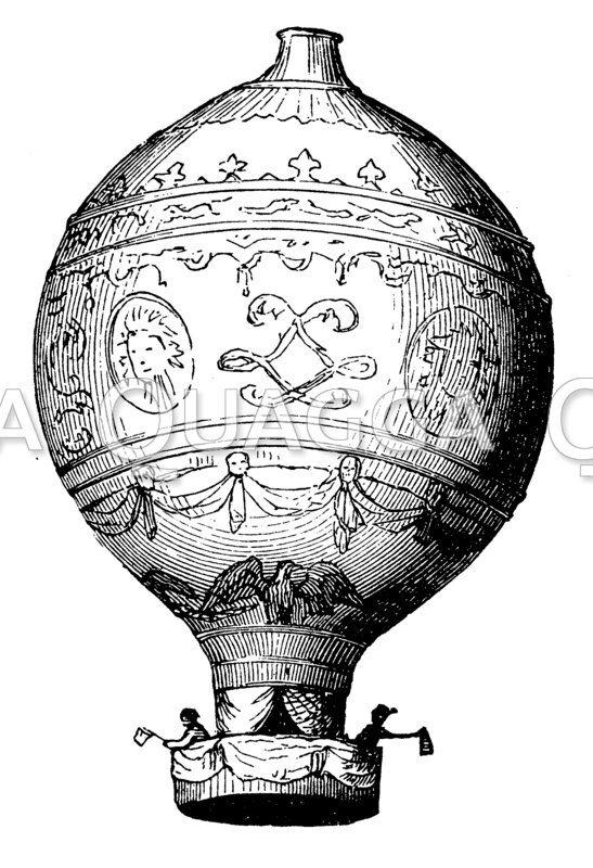 Heißluftballon von Montgolfier