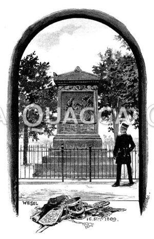 Denkmal der erschossenen elf Schillschen Offiziere bei Wesel
