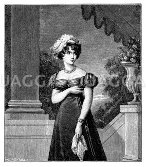 Herzogin von Berry Zeichnung/Illustration