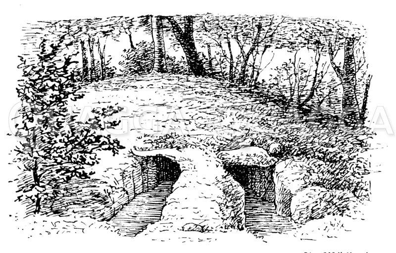 Hünengrab auf der Insel Möen (S. Müller) Zeichnung/Illustration