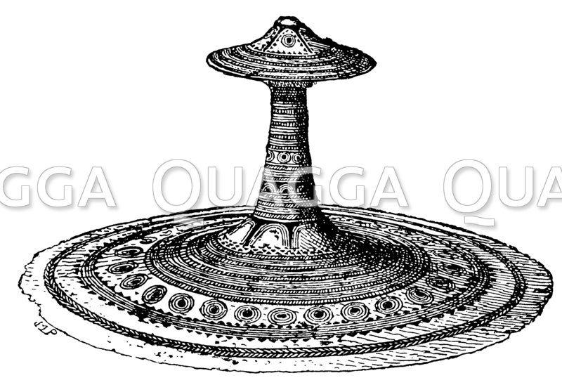 Schmuckplatte aus Erz aus der älteren Bronzezeit