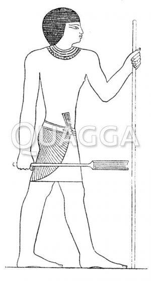 Ägyptische Profilfigur