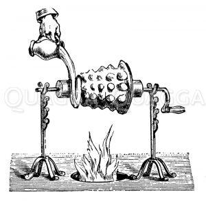 Baumkuchenapparat Zeichnung/Illustration
