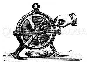 Bohnenschneidemaschine Zeichnung/Illustration