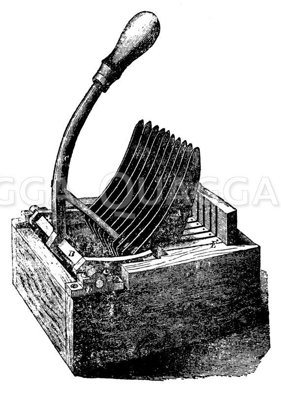 Brotschneidemaschine Zeichnung/Illustration