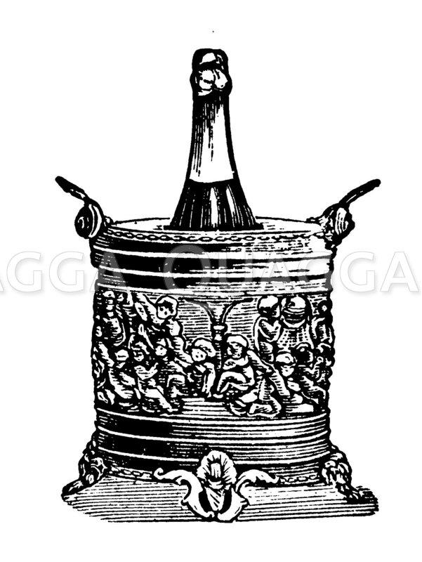 Champagnerkühler Zeichnung/Illustration