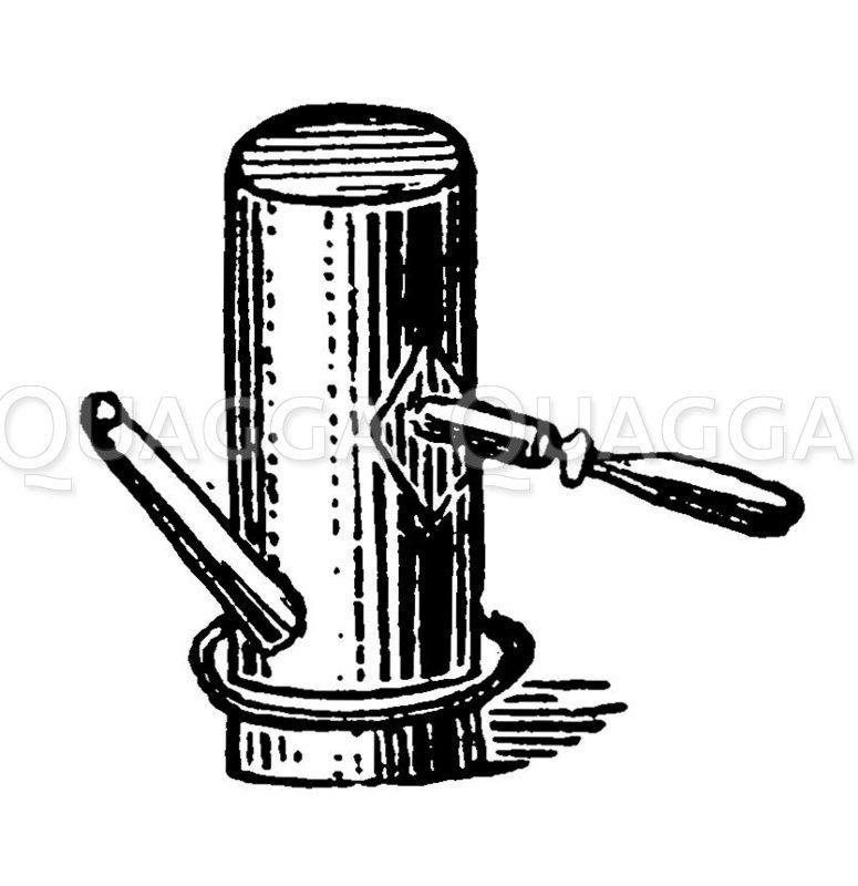 Sturzkaffeemaschine Zeichnung/Illustration