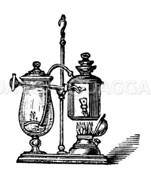 Luftdruck-Kaffeemaschine Zeichnung/Illustration