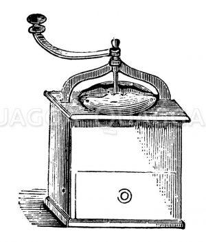 Kaffeemühle Zeichnung/Illustration