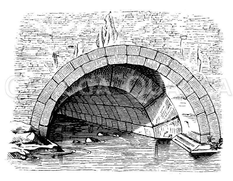 Rom: Einmündung der Cloaca Maxima Zeichnung/Illustration