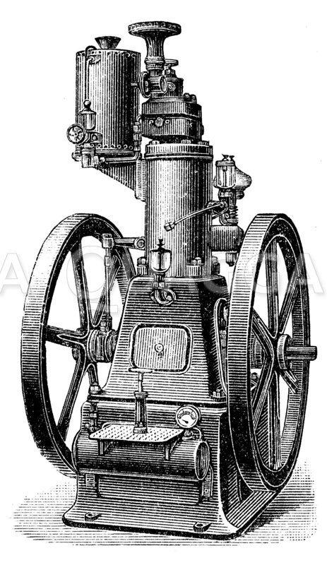 Ottos stehender Motor Zeichnung/Illustration