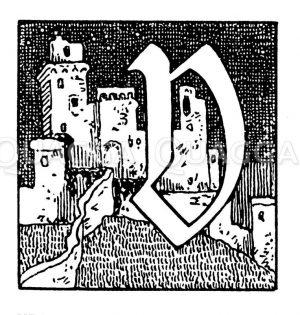 Buchstabe V Zeichnung/Illustration