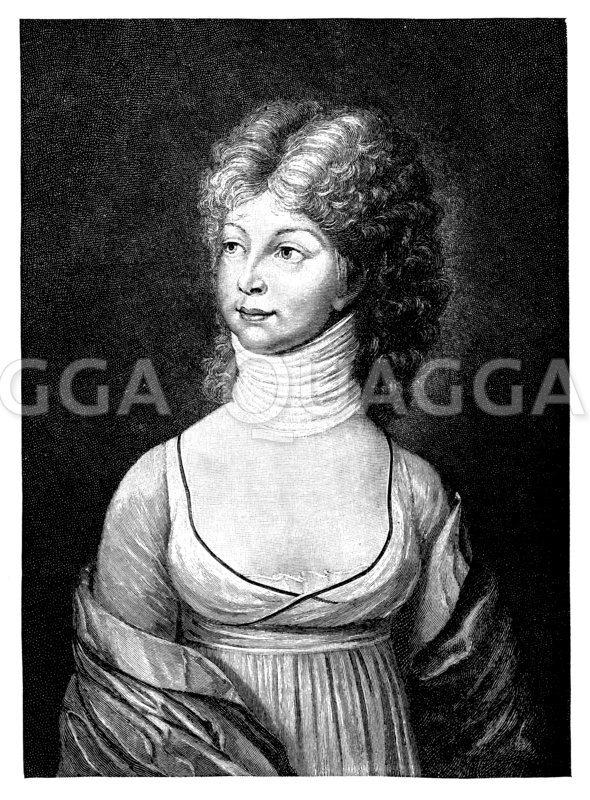 Kronprinzessin Luise von Preußen Zeichnung/Illustration