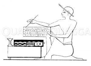 Ägyptischer Schreiber Zeichnung/Illustration
