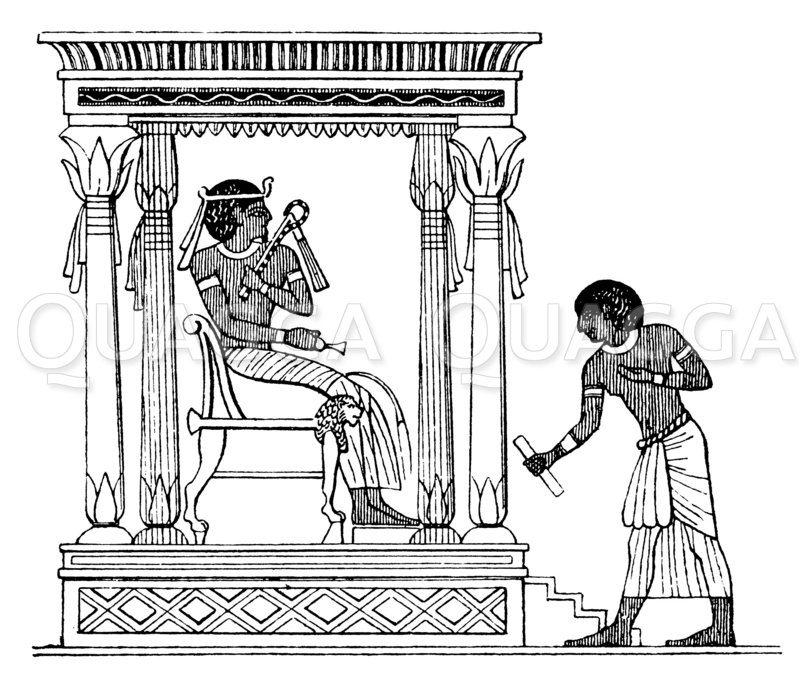 Ägyptischer Briefbote Zeichnung/Illustration