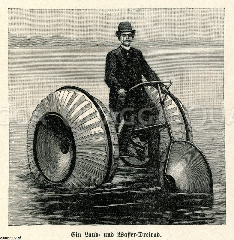 Land- und Wasser-Dreirad