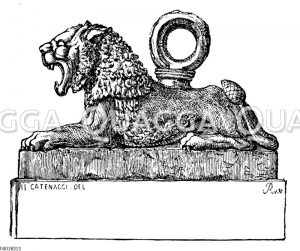 Eherner Löwe im Palast zu Khorsabad