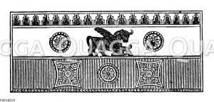 Assyrische Mosaikverzierung