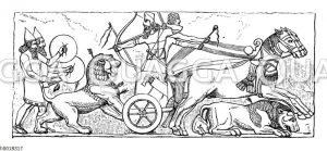 Assyrische Löwenjagd