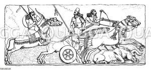 Assyrische Stierjagd