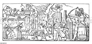 Assyrische Belagerungsszene