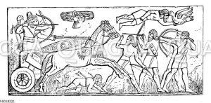 Sardanapal in seinem Streitwagen