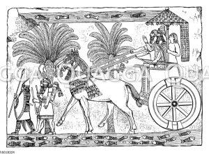 Siegreich heimkehrender assyrischer König