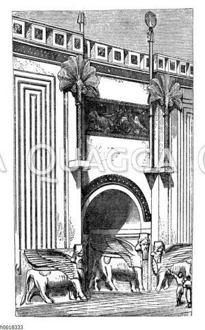 Eintritt in den Thronsaal eines assyrischen Königs