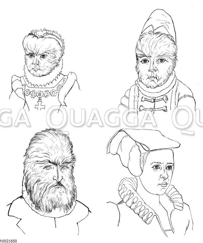 Haarige Familie von Amras