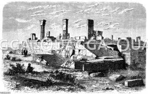 Ruinen vom Palast des Xerxes