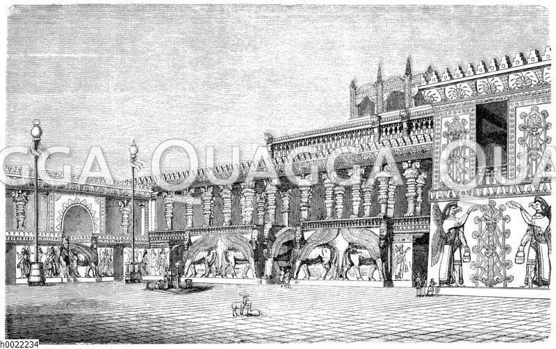 Wiederherstellung des nördlichen Flügels am Palast von Khorsabad