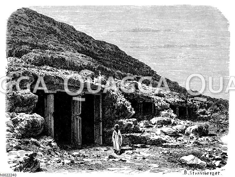 Grabeingang bei Benihassan