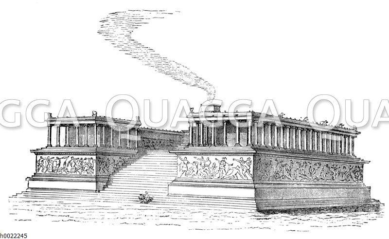 Pergamon: Rekonstruktion des Altarbaues