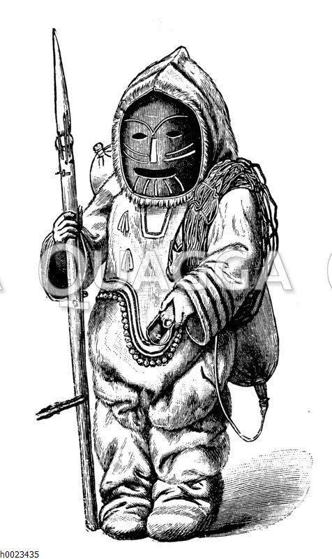 Eskimo mit Maske