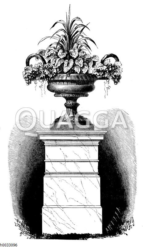 Blumenarrangement in einerm Kübel