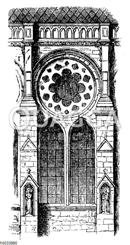 Teil der Kathedrale von Chartres. Französischer Frühgotik