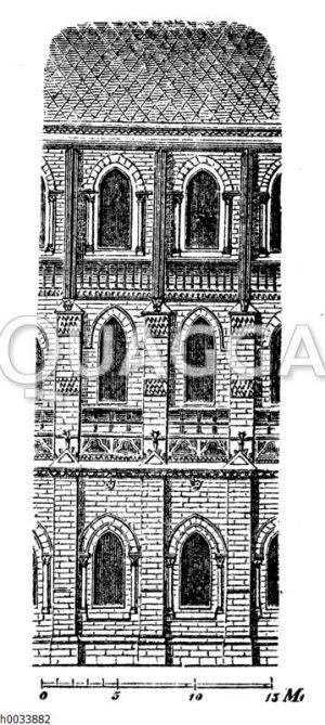 Notre Dame: Teil der Seitenansicht