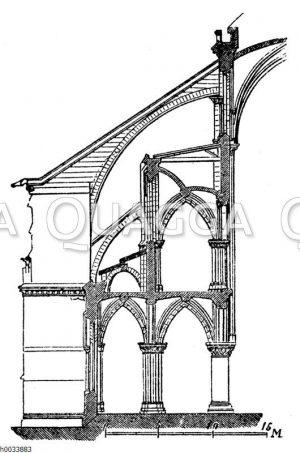 Notre Dame: Teil des Querschnitts