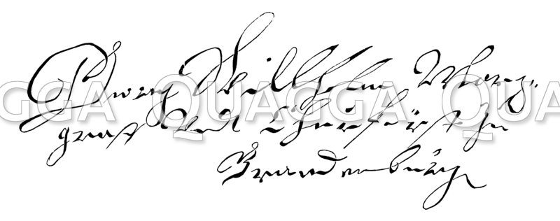 Autograph: Georg Wilhelm