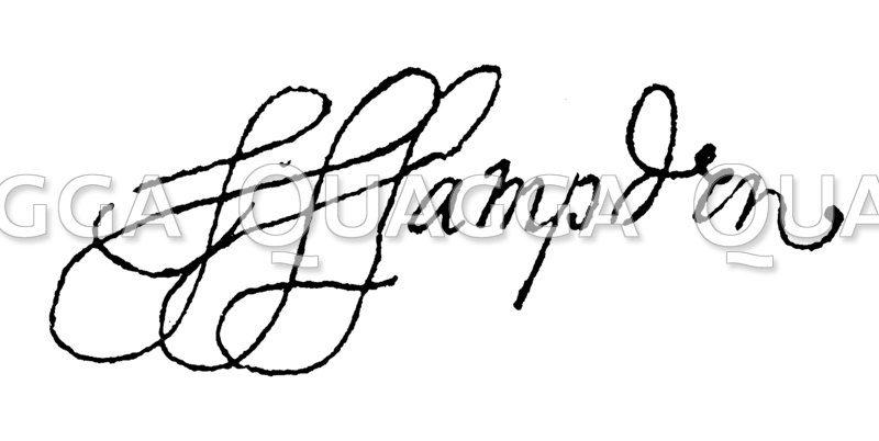 Autograph: John Hampden