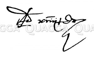 Autograph: Admiral Michael Adrian de Runter