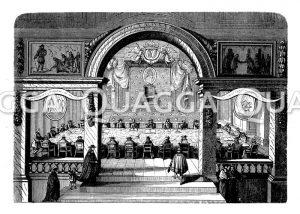 Eine Sitzung der Académie francaise