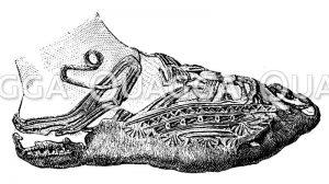 Lederschuh von einer Moorleiche