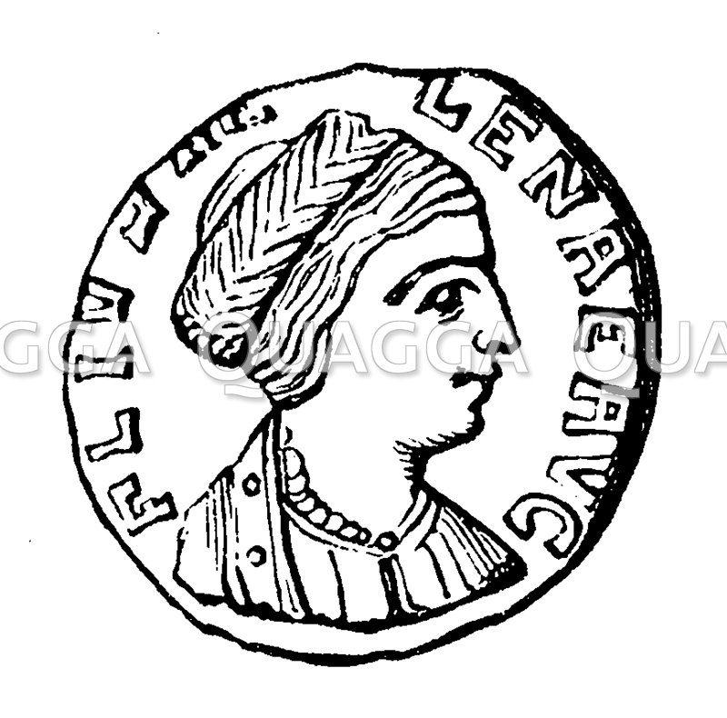 Helena auf einer Münze