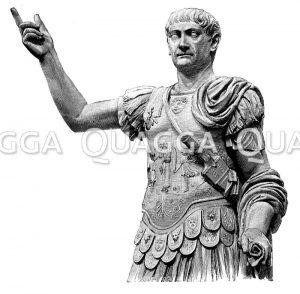 Trajan. Antike Marmorstatue im Nationalmuseum zu Neapel