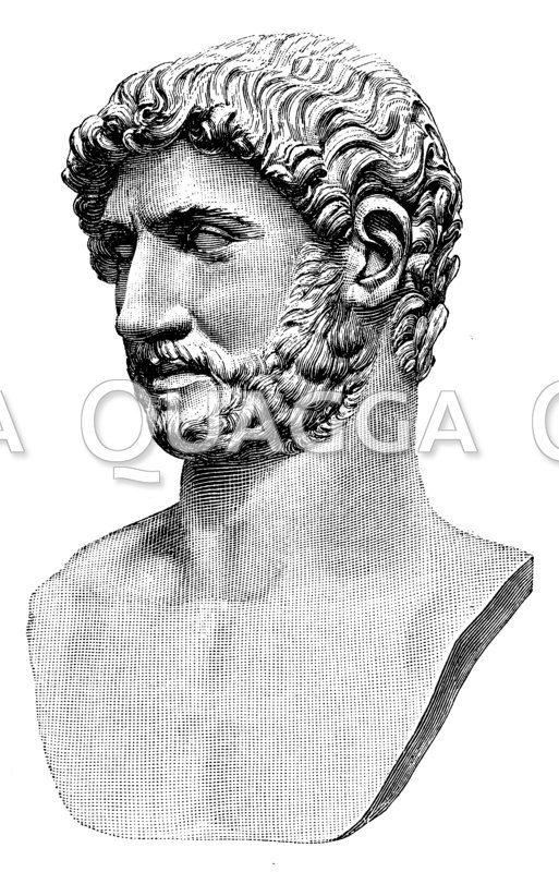 Adrianus. Antike Marmorbüste im vatikanischen Museum