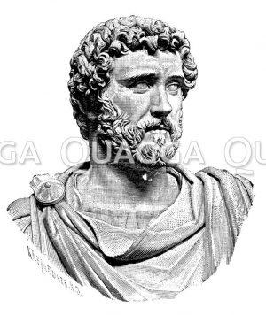 Antoninus Pius. Antike Marmorbüste im Nationalmuseum zu Neapel